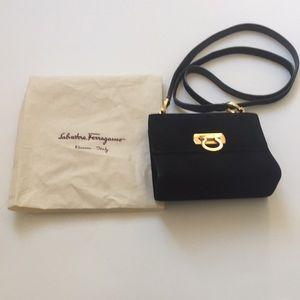 Salvatore Ferragamo Black Suede Bag